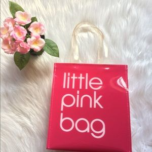 Bloomingdales iconic Little Pink Bag Tote
